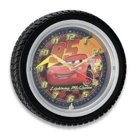 Amazon Com Disney Cars Mcqueen Wall Clock Tire Shape