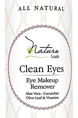 """Best Cheap Deal for The Best Natural Eye & Face Makeup Remover - Oil Free - Rich Vitamins - Non Irritating - No Hazardous Chemicals - """"Clean Eyes"""" By Nature Lush - Made In Greece 4.4 oz by Nature Lush - Free 2 Day Shipping Available"""