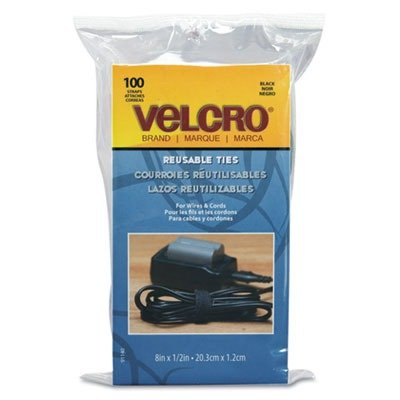 VELCRO Brand  - ONE-WRAP Thin Self-Gripping Cable Ties: Reusable, Light Duty - 8