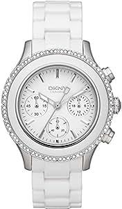 DKNY Damen-Armbanduhr Chronograph Quarz Keramik NY8672