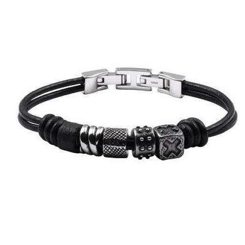 FOSSIL Herren Stahl Armband Edelstahl 20,5 cm