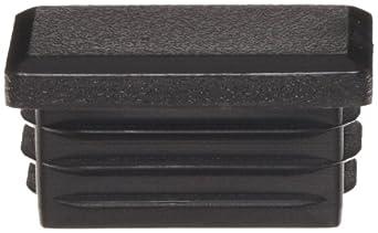 Kapsto 270 R 3020 1.5 - 2 Polyethylene Rectangular Plug, Black, 30x20 mm (Pack of 100)