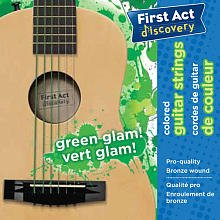 First Act Discovery Girls Guitar Strings - Green Glam