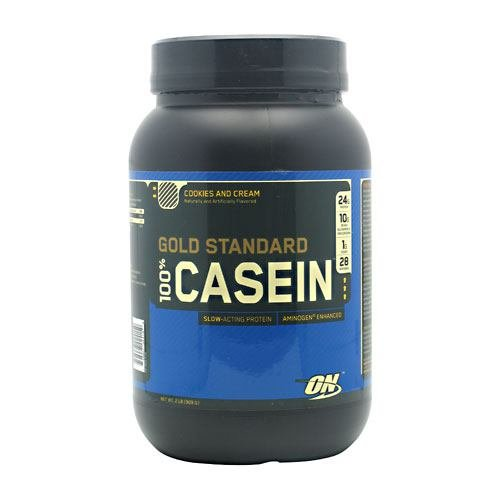 Optimum Nutrition 100% Casein Cookies and Cream 2 lbs - Slow-Acting, Aminogen Enhanced Protein ( Multi-Pack)