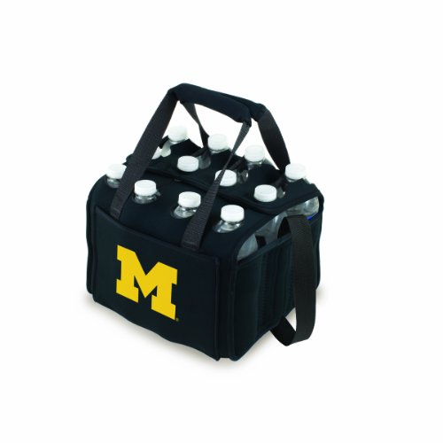 Ncaa Michigan Wolverines Beverage Buddy Insulated 12-Pack Drink Tote, Black front-459577