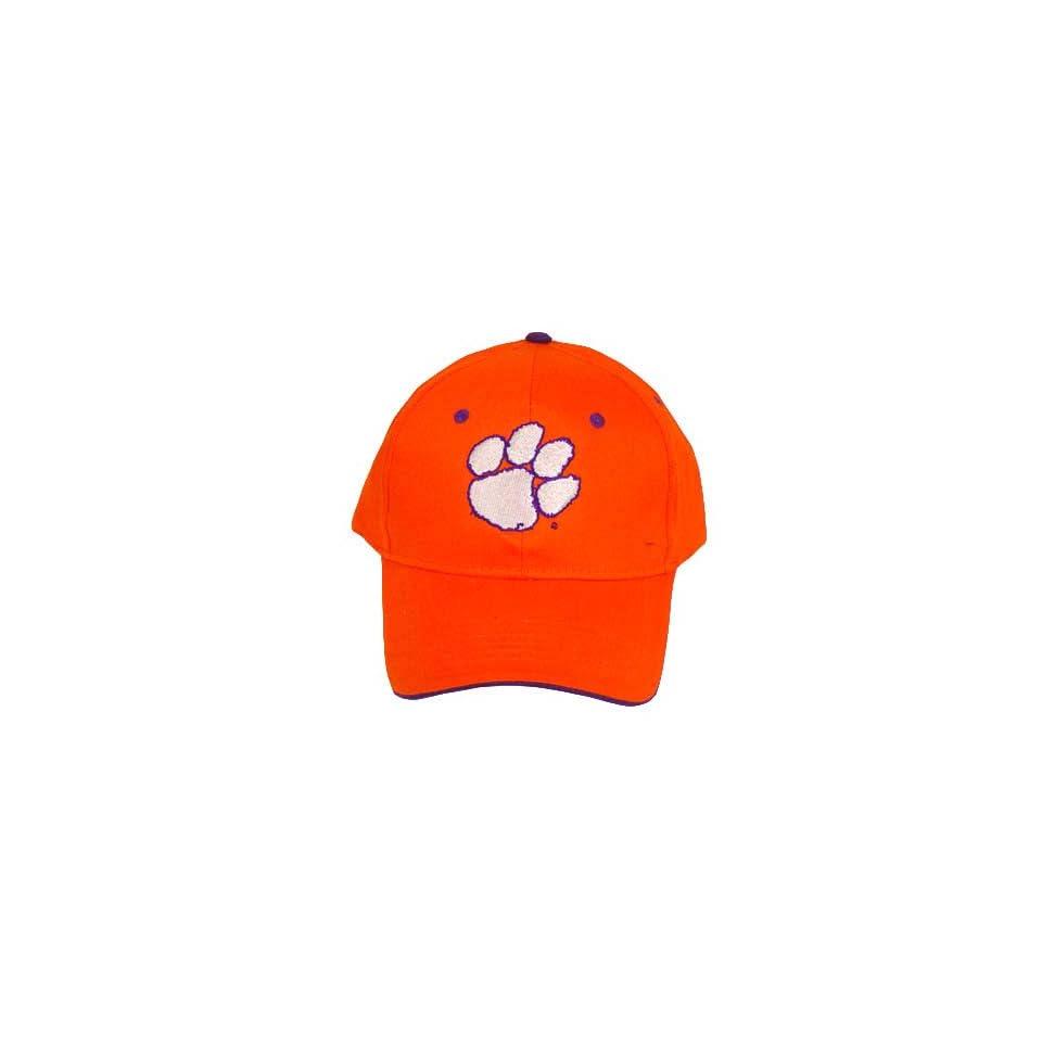 71ba9664447 NCAA OFFICIAL CLEMSON TIGERS COTTON ORANGE CAP HAT NEW on PopScreen