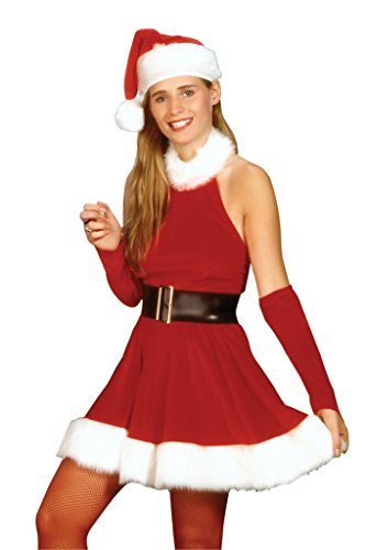 Rubies Womens Santa'S Inspiration Velour Furtrimmed Christmas Party Costume