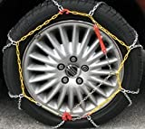 Pair of 9mm snow tyre chains for 165 55 13 tyres