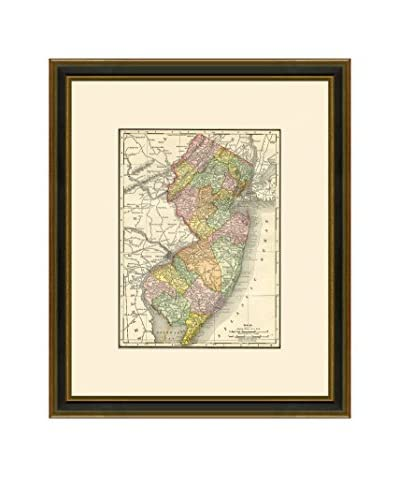 Antique Map of New Jersey, 1886-1899