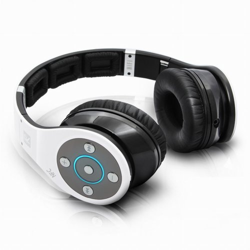 Bluedio Upgrade Version R+: Nfc & Bluetooth V4.0 Wireless Stereo Headphone With Apt-X Codec Foldable 8 Tracks Super Bass Hifi Headset With Handsfree -1300Hrs(50Days) Standby (R+) (White)
