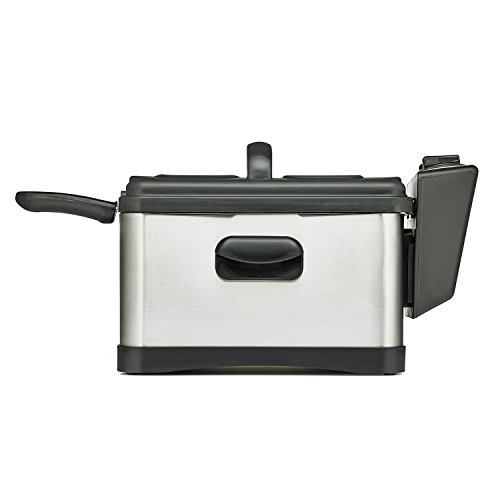 BELLA 14406 Three-Basket Electric Deep Fryer, 4.5 L, Stainless Steel/Black (Bella Deep Fryer compare prices)