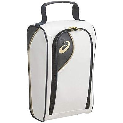 [アシックス] シューズ袋 ミドルカットサイズシューズ収納可能 合成皮革 シューズケース ゴールドステージ ホワイトネイビー
