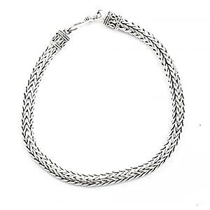 bijoucolor - Bracelet en argent ethnique de bali - Long : 20cm - Larg :0,6cm