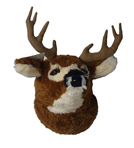 "ADORE 12"" Yosemite Mule Deer Head Plush Stuffed Animal Walltoy Wall Mount"