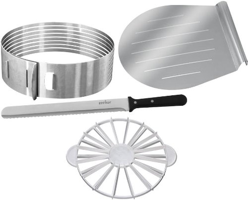The Zenker and Dr. Oetker Baking Cake Kit: Cake Layer Slicer and Portion Divider (Cake Slice Lifter compare prices)