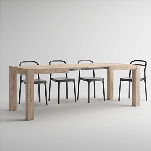 Table Extensible de Cuisine Chêne Naturel Iacopo
