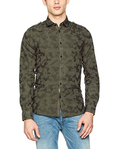 Guess Camisa Hombre Ls Gd Camou Jacquard