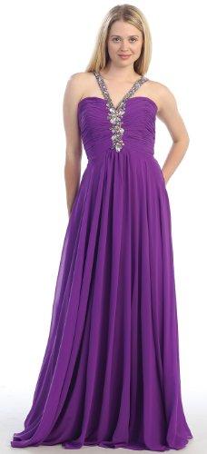 Prom Halter Dress Elegant Long Gown #2915