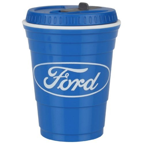 Genuine Ford Deluxe Stadium Cup Mug Drink Bottle With Lid!