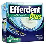 Efferdent Plus, Denture Cleanser Tablets,Freshburst 36
