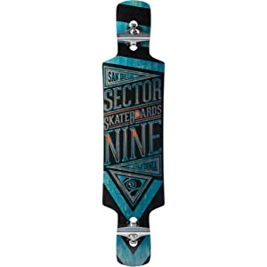 Sector 9 Slingshot Skateboard Deck, Blue, 9.5 x 40.5-Inch by Sector 9