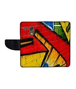 KolorEdge Printed Flip Cover For Motorola Moto G Multicolor - (45KeMLogo11939MotoG)