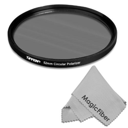 Tiffen 52Mm Circular Polarizer Cpl Glass Filter For Nikon D5300 D5200 D5100 D3300 D3200 D3100 Dslr Cameras + Magicfiber Microfiber Lens Cleaning Cloth