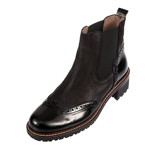 Wonders Donna in Pelle Chelsea Boot (E-5002), (Black), 37 EU