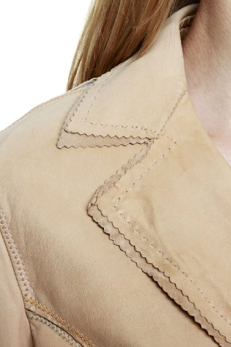 Paolo Sperotto Blazer Leather Jacket JESOLO, Color: Beige, Size: 36