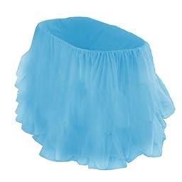 bkb Bassinet Petticoat, Aqua Blue, 13\