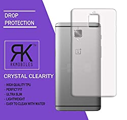 RKMOBILES One Plus 3T Unbreakable and Shock Proof Transparent Back Cover (For One Plus 3T)