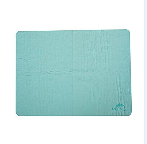 Dalfwin(ダールフィン)超吸収・速乾型 絞って何度も使える セームタオル スイムタオル 中サイズ 4色 (グリーン)