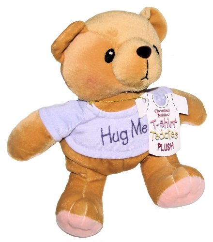 Cherished Teddies Hug Me Purple T-shirt Plush Teddy Bear By Artist Priscilla Hillman # 505382 - 8 Inches Tall