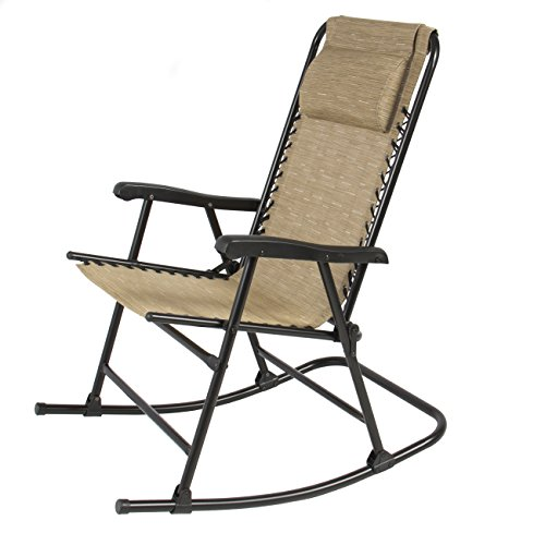 Best Choice Products Folding Rocking Chair Foldable Rocker Outdoor Patio Furn