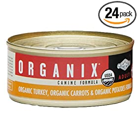 Castor & Pollux Organix Canine Formula, Made With 95% Organic Ingredients, Organic Carrots And Organic Potatoes, 5.5 Ounce Tins (Pack of 24)