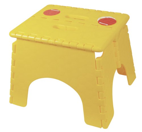 B&R Plastics 101-6Y-YELLOW EZ Foldz Step Stool