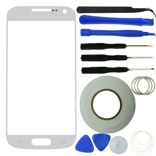 Eco-Fused Screen Replacement Kit for Samsung Galaxy S4 Mini including Replacement Glass / Tool Kit / Adhesive Sticker Tape / Tweezers / Microfiber Cleaning Cloth / Instruction Manual (Samsung Galaxy S4 Mini Kit compare prices)