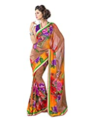 FadAttire Georgette Chiffon Printed Saree With Blouse FAPKS18