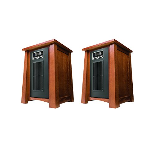 Haier 3 Heat Setting 1500W Infrared Zone Heater with Dark Oak Finish (2 Pack) (Extra Large Electric Heater compare prices)