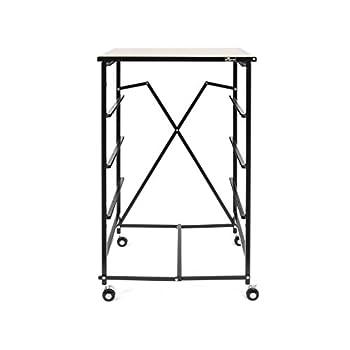 Origami Foldable 4 Tier Drawer Wood Shelf, Black
