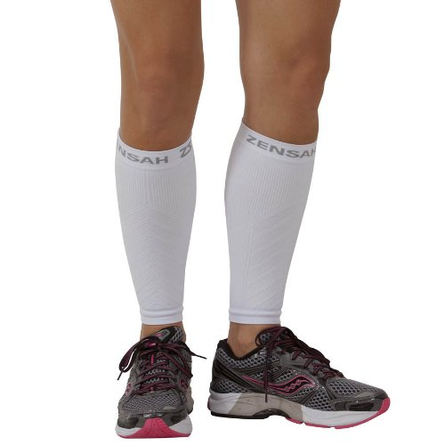 Zensah Compression Leg Sleeves - Helps Shin Splints, Leg Sleeves for Running