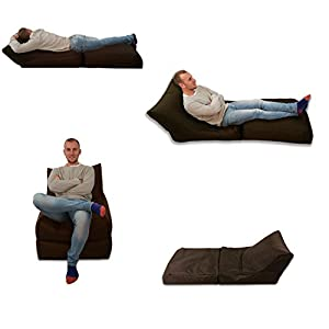 Beanbag Bed Chair Brown Indoor And Outdoor Extra Large Gaming Seat XXXL Weather Resistant (Waterproof) by MaxiBean