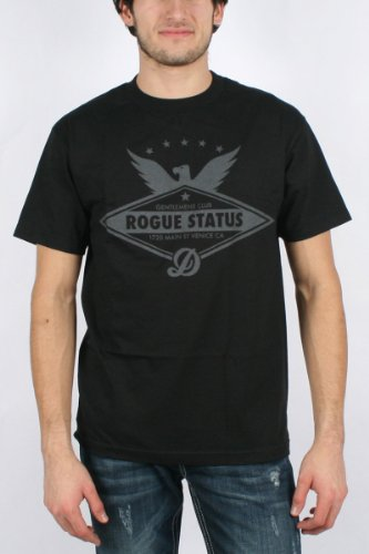 DTA / Rogue Status Main Street Mens T-shirt in Black/Grey, Size: Medium, Color: Black/Grey