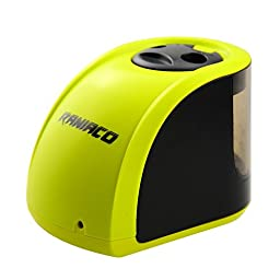 Raniaco Electric Pencil Sharpener with 2 Different Sizes of Holes, Both Electronic and Battery Operated