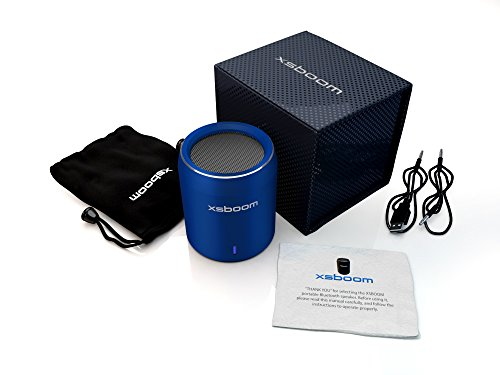 Mini Bluetooth Speakers Xsboom Exceptional Sound | Free Gift Box And Carry Bag | Wireless Connection To Iphone, Ipad, Ipod, Computer, Macbook, Android, Mp3 | Quality Handsfree Phone Calls | Up To 10Hrs Play Time | So Portable Play It In A Car, Boat, Home,