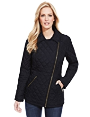 M&S Collection Quilted Biker Coat