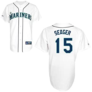 Kyle Seager Seattle Mariners Home Youth Replica Jersey by Majestic by Majestic