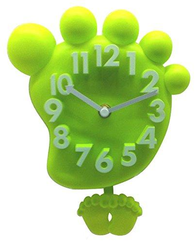 Wanduhr Kinderwanduhr Kinderuhr Uhr Wanddeko Kinder Kinderzimmer Fuß (Grün) online bestellen