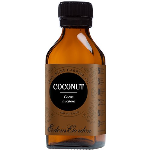 Coconut 100% Pure Carrier/ Base Oil- 3.4 oz (100 ml) by Edens Garden