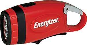 Energizer Weatheready 3-led Carabineer Rechargeable Crank Light Red